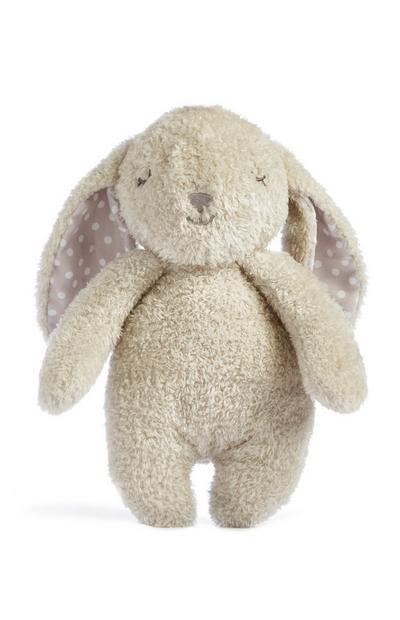 Crèmekleurige pluche konijn