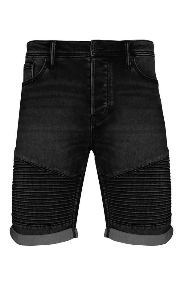 Schwarze, gestrickte Biker-Shorts