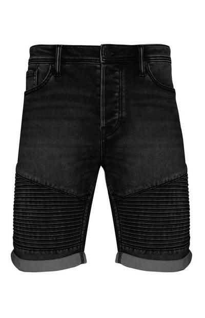 Black Knitted Biker Shorts