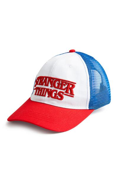 Stranger Things White Red And Blue Cap