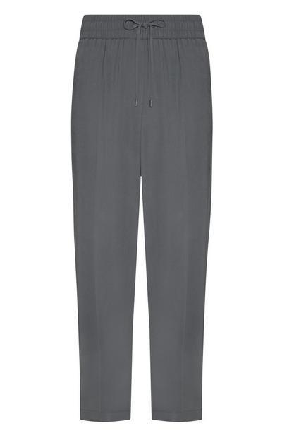 Grey Drawcord Loose Joggers