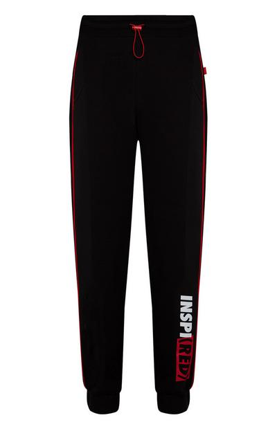 "Schwarze ""Inspired RED"" Jogginghose"