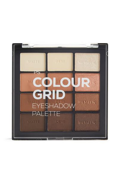 PS Pro Color Grid Eyeshadow Palette in Brown Tones