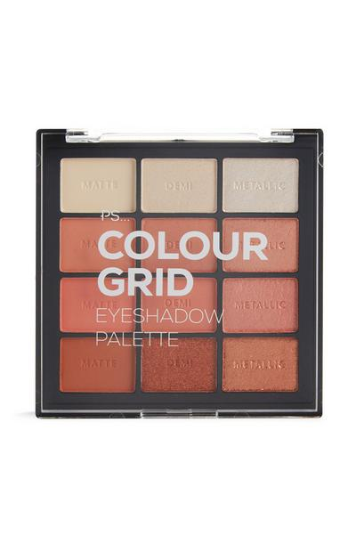 PS Pro Orange Tones Colour Grid Eyeshadow Palette
