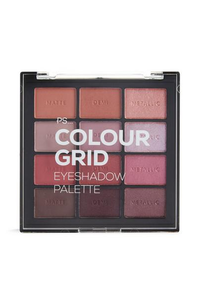 PS Pro Color Grid Eyeshadow Palette in Shades of Pink