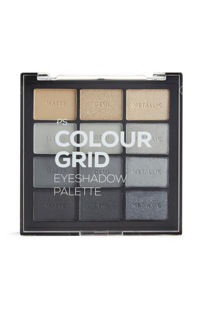 PS Pro Color Grid Eyeshadow Palette in Shades of Gray