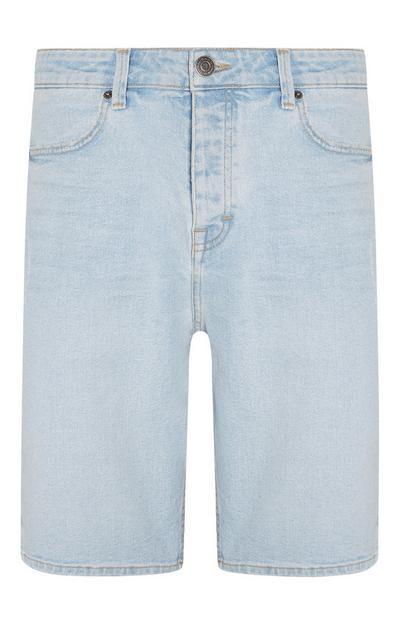 Denim Light Wash Bermuda Shorts