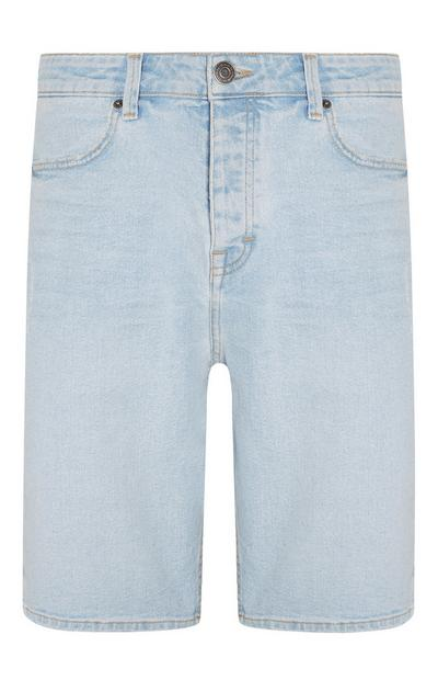 Denim Light Wash Bermuda Shorts