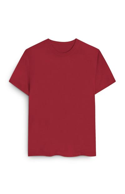 Wijdvallend rood T-shirt van biologisch katoen