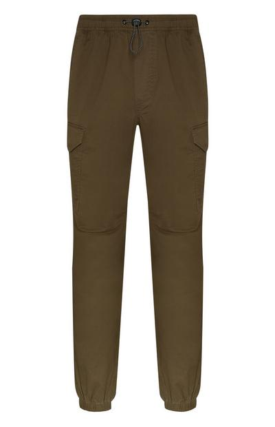 Olive Lightweight Cuffed Cargo Pants