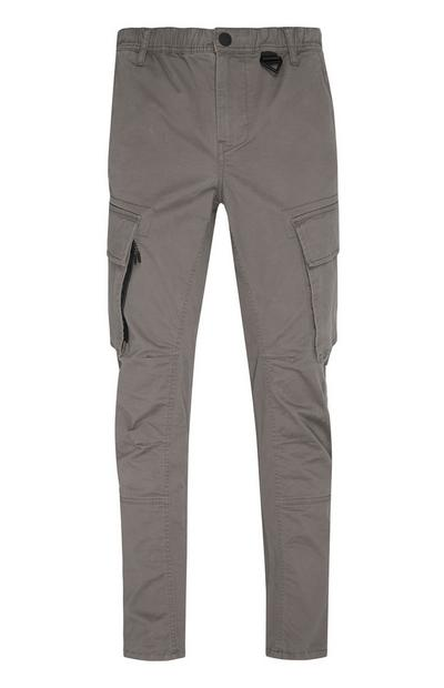 Lightweight Charcoal Grey Cargo Trousers