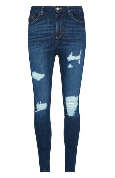 Dark Extreme Rip Skinny Jeans