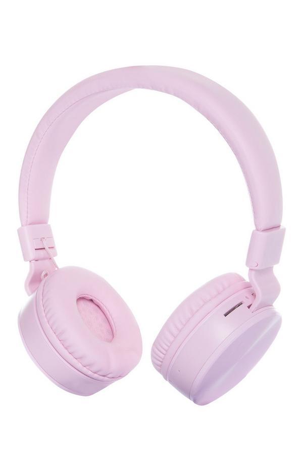Kabellose, aufladbare Kopfhörer in Rosa