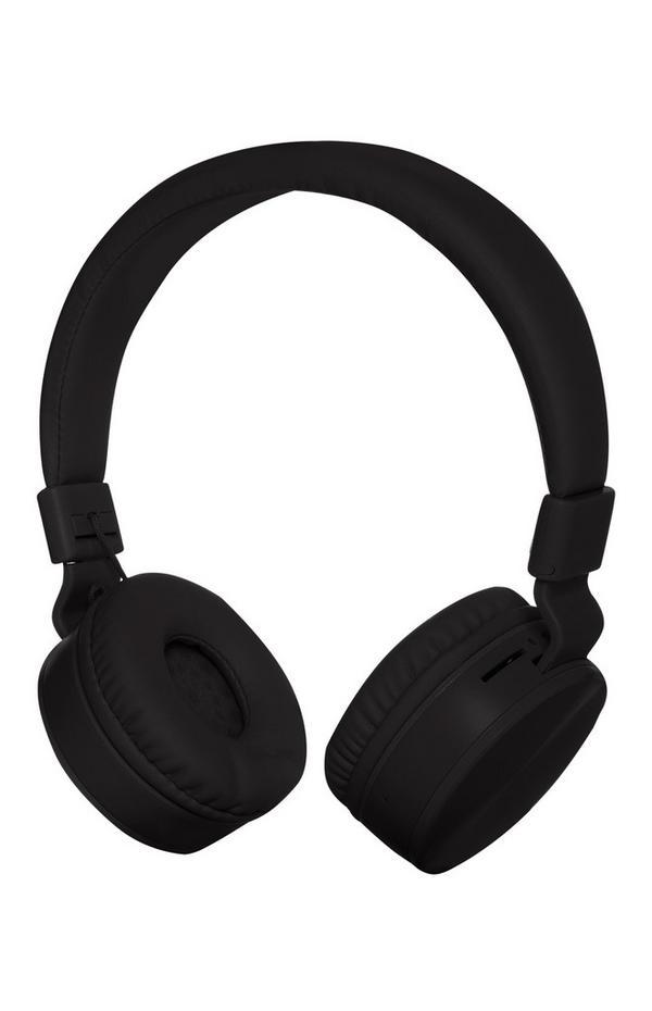 Kabellose, aufladbare Kopfhörer in Schwarz