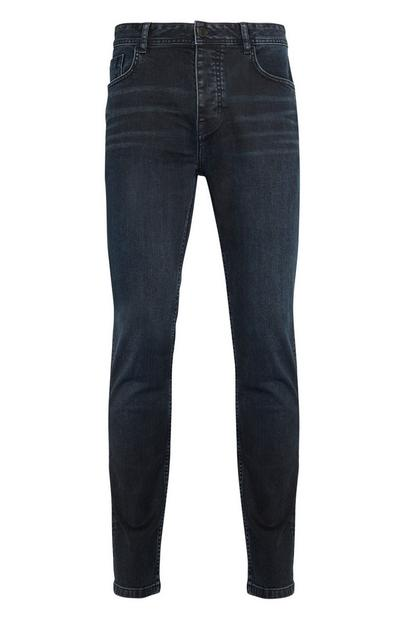 Inky Blue Stretch Ripped Knee Jeans