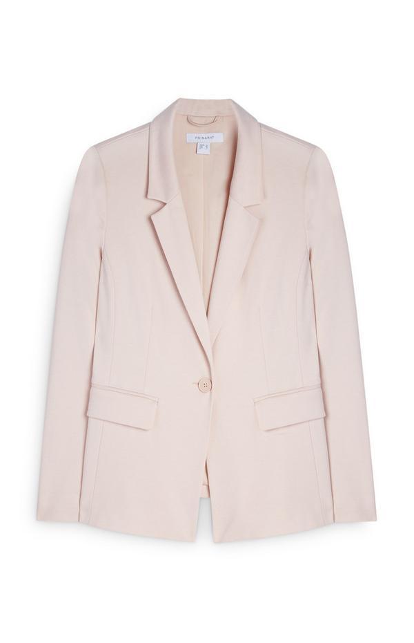 Pink Ponte Buttoned Blazer