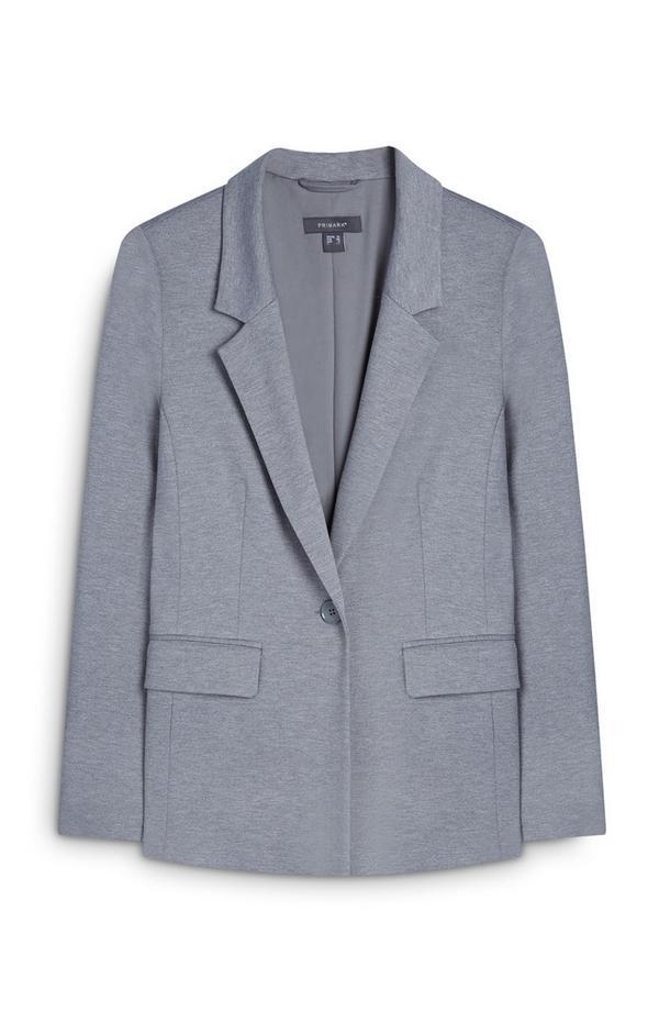 Siv suknjič z gumbom