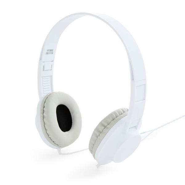 Weiße Stereo-Kopfhörer