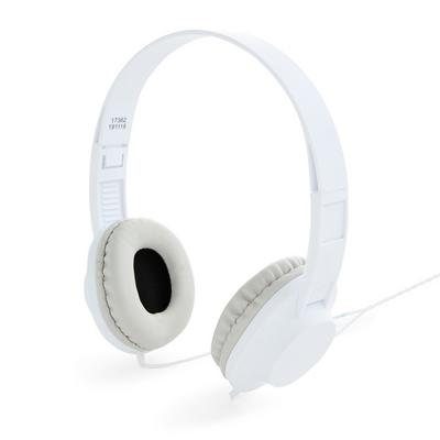 White Wired Headphones