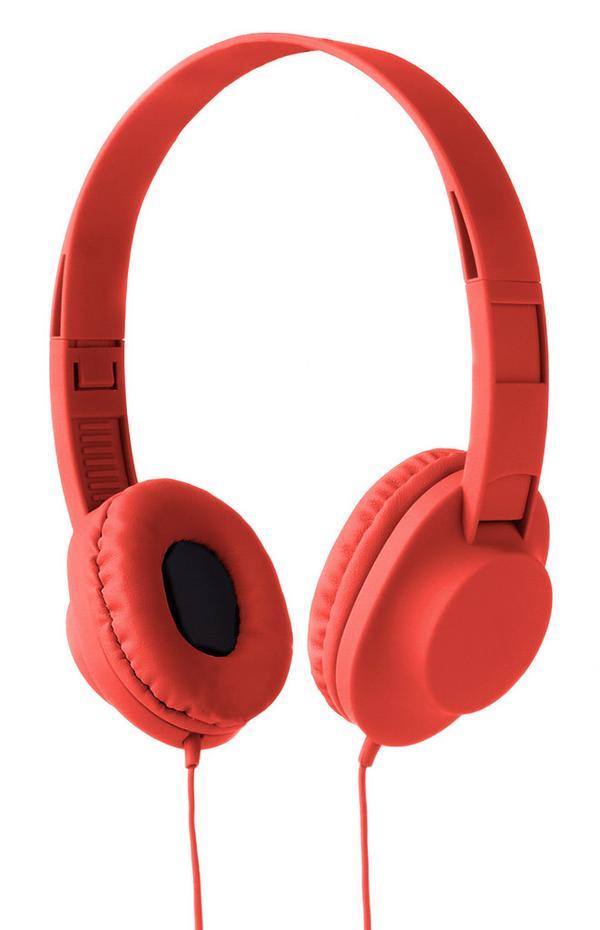 Rote Stereo-Kopfhörer