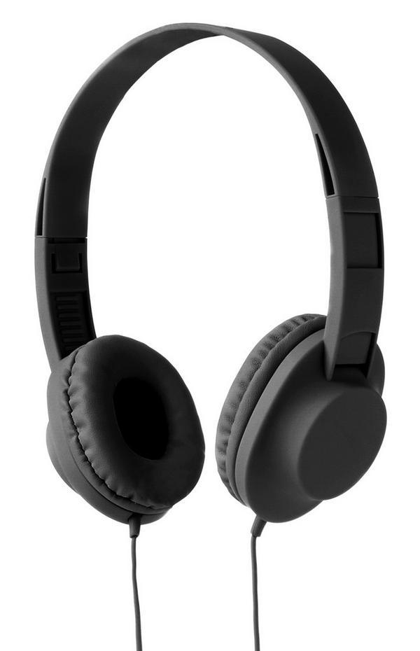 Black Wired Headphones