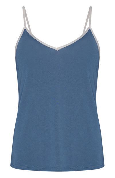 Caraco bleu en modal