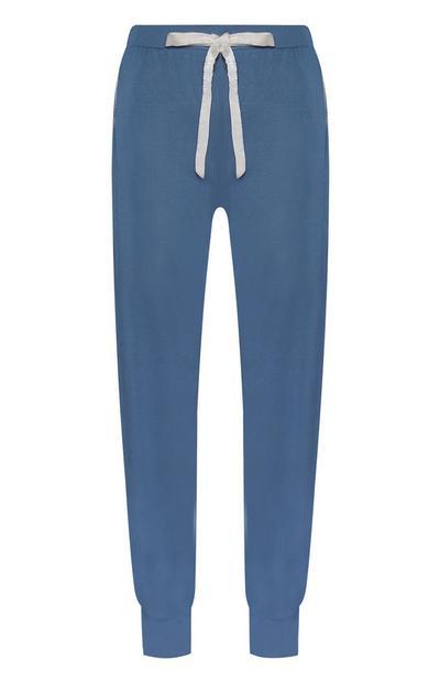 Pantaloni del pigiama blu in modal