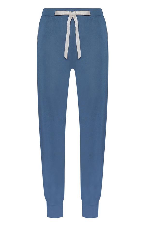 Blauwe modal pyjamabroek