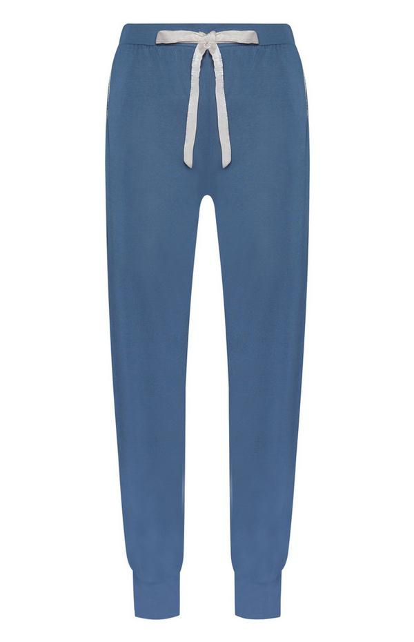 Moder spodnji del pižame iz modala