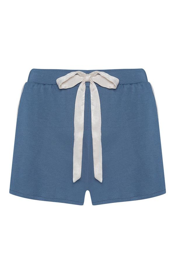 Blue Modal Pajama Shorts