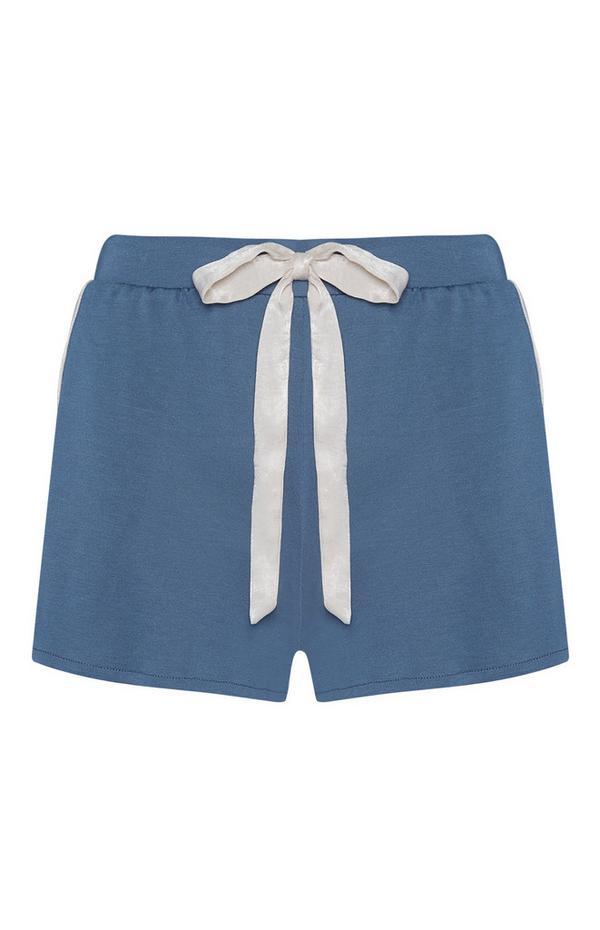 Short de pyjama bleu en modal
