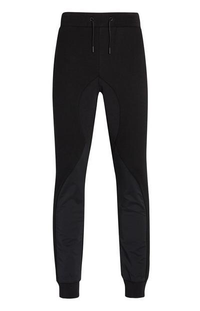 Black Woven Pocket Sports Joggers