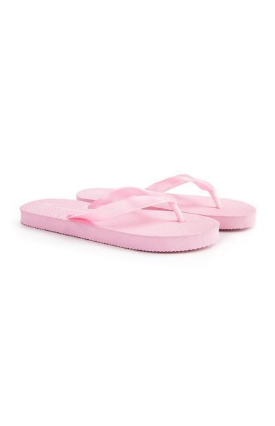 Older Girl Pink Flip Flops