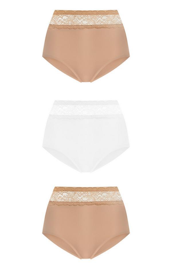 Unterhosen mit hohem Bund, 3er-Pack
