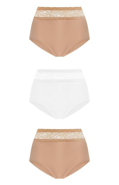 3-Pack Invisible High Waist Briefs