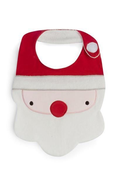 Rood kerstman-slabbetje, baby