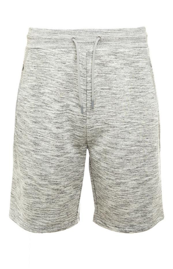 Gray Space Dye Tie Waist Sports Shorts