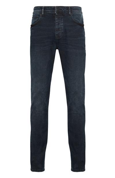 Jean droit bleu encre Premium