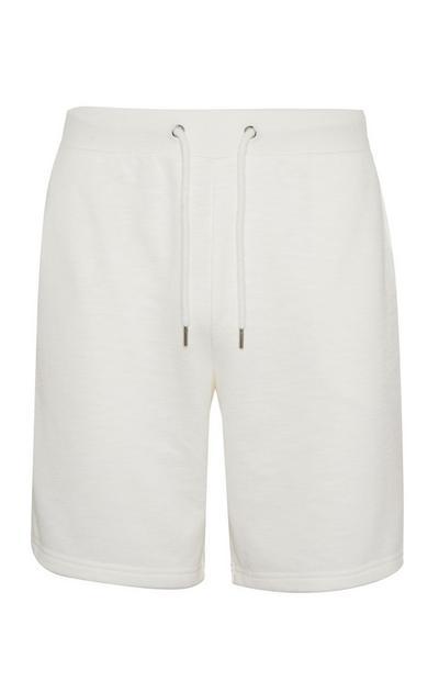 Short blanc avec cordon de serrage