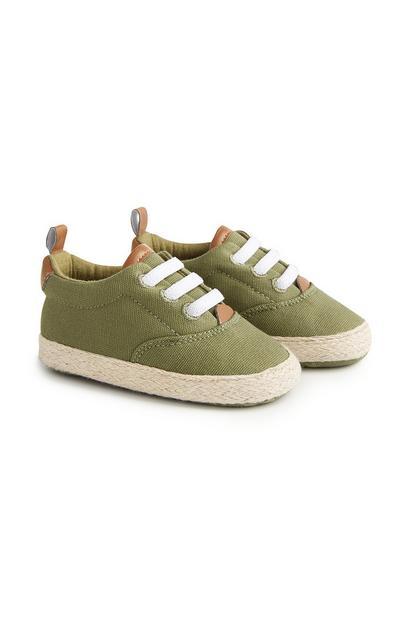Baby Boy Khaki Espadrille Shoes