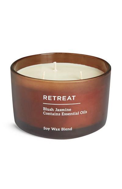 Retreat Soy Wax 3 Wick Jasmine Candle