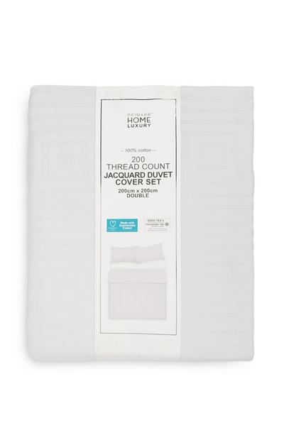White 200 Thread Count Double Duvet Cover Set