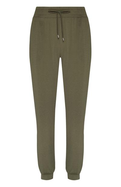 Khaki Patterned Lightweight Joggers