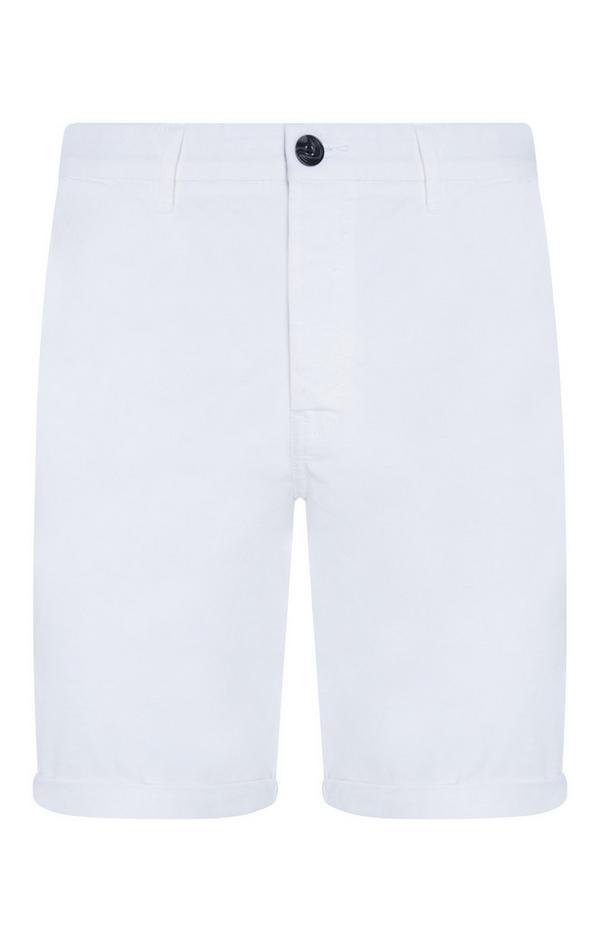 Bele platnene kratke hlače