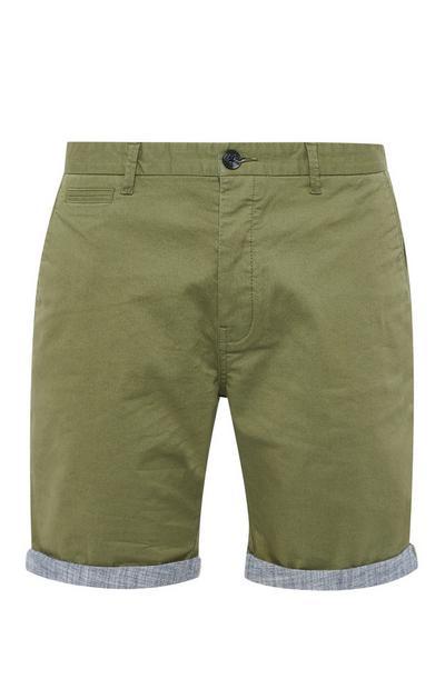 Olive Chino Shorts