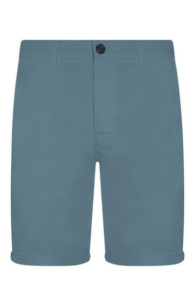 Short chino bleu en chambray