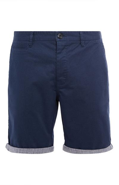 Dark Blue Chambray Chino Shorts