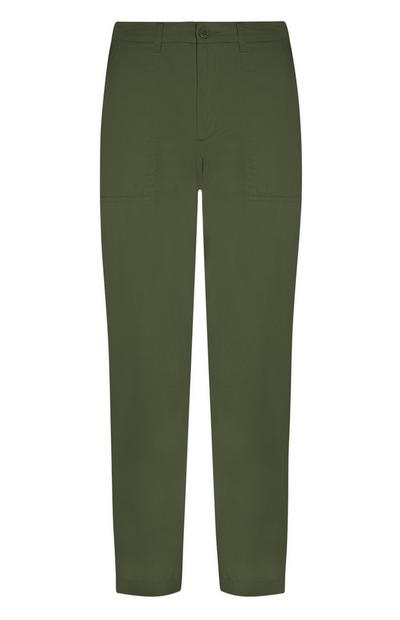 Forest Green Patch Pocket Chinos