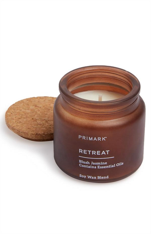 Mini Retreat Blush Jasmine Jar Candle With Cork Lid