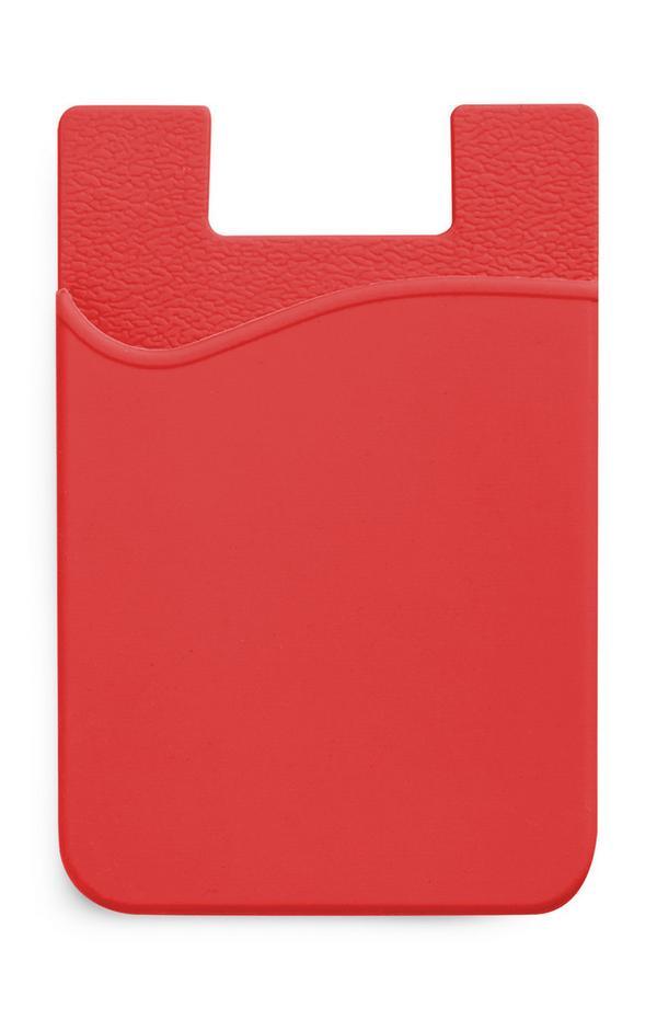 Rode siliconen kaarthouder